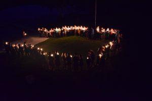 Candle light circle