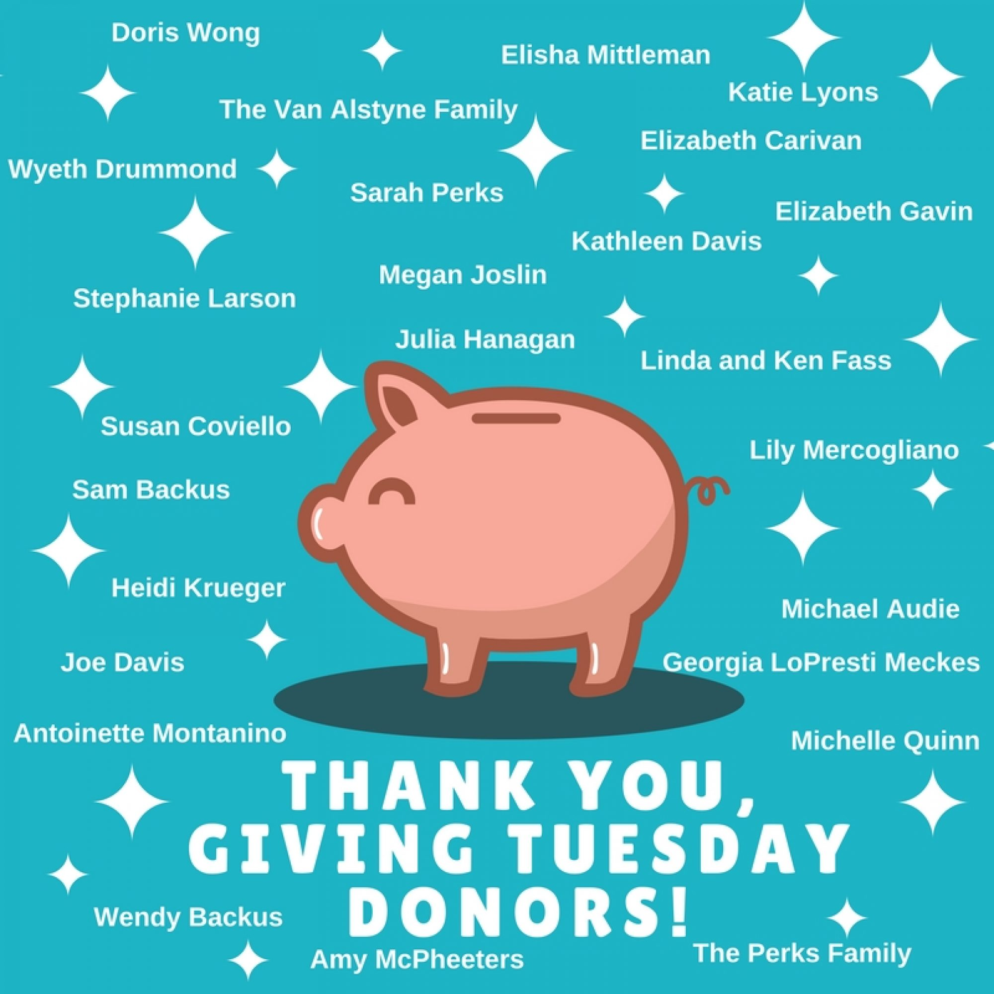 Thank you Giving Tuesday Donors